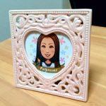 女性のプレゼント用似顔絵イラスト5
