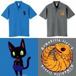 黒猫/アルマジロトカゲ/ポロシャツ