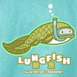 肺魚ハイギョ古代魚シュノーケルTシャツ