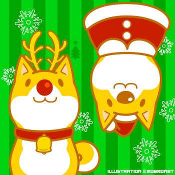 柴犬クリスマスイラスト