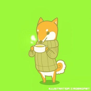 柴犬イラストセータースープ
