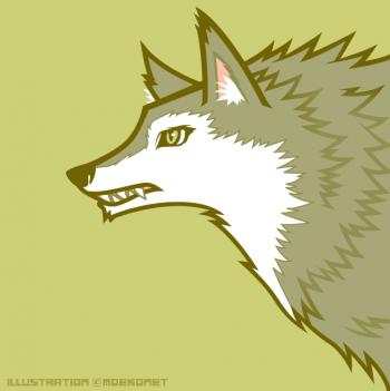 狼イラスト