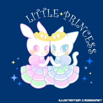 猫兎お姫様ドレスイラスト