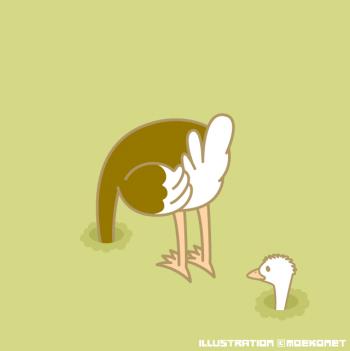 ダチョウ穴頭イラスト